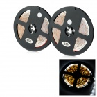 JRLED 48W 2400lm 6500K 300-SMD 3528 LED White Light Strips - Black + White (2 PCS / 5M / DC 12V)