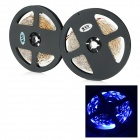 JRLED 48W 1600lm 470nm 300-SMD 3528 LED Blue Light Strips - Black + White (2 PCS / 5M / DC 12V)