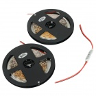JRLED 48W 1600lm 470nm 300-SMD 3528 LED Blue Light Strips - Preto + Branco (2 PCS / 5M / DC 12V)