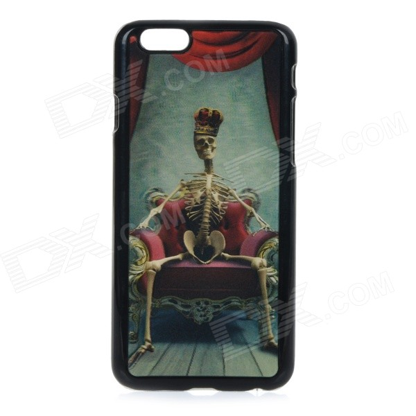 3D Skull Skeleton Patterned Protective Back Case Cover for IPHONE 6 4.7 - Black + Multi-colored cm001 3d skeleton pattern protective plastic back case for samsung galaxy s4