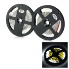 JRLED 144W 10000lm 6500K 300-SMD 5730 LED White Light Strips - Black + White (2 PCS / 5M / DC 12V)