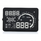 "W03 5"" Screen Car Head UP Display w/ Non-slip Mat / Reflecting Film / OBD Data Cable - Black"