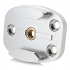 G079 Multi-Function CNC Aluminum Alloy Tripod Mount Adapter for GoPro Hero 3 / 3+ - Silver