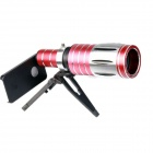 "50x Zoom Camera Telephoto Lens w/ Tripod Mount + Back Case for IPHONE 6 4.7"" - Red + Silver + Black"