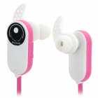 HV803 In-Ear Style Bluetooth V3.0 + EDR Headphones w/ Microphone - Pink + White