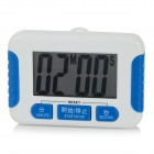 "2.2"" Screen Electronic Kitchen Timer Clock - White + Blue (1 x AAA)"