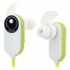 HV803 Bluetooth V3.0 + EDR In-Ear Style Earphones w/ Microphone - Green + White
