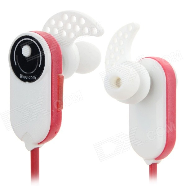 HV803 In-Ear Style Bluetooth V3.0 + EDR Headphones w/ Microphone - Red + White