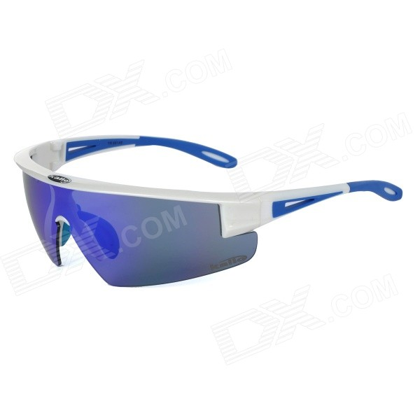KALLO 99148 Outdoor Cycling TR90 Frame PC Blue REVO Lens Goggles - White topeak outdoor sports cycling photochromic sun glasses bicycle sunglasses mtb nxt lenses glasses eyewear goggles 3 colors