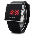 HZ-29 Casual Silicone Band Digital LED Watch - Black (1 x CR2032)