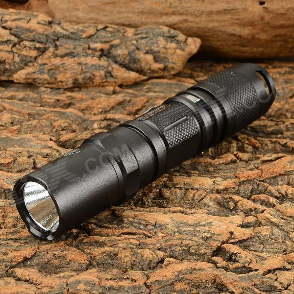 JETBeam PA10 650lm 7-Mode Cool White LED Tactical Flashlight - Black (1 x AA)