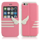 "Hat-Prince Protective PU Case w/ Window for IPHONE 6 4.7"" - Pink"