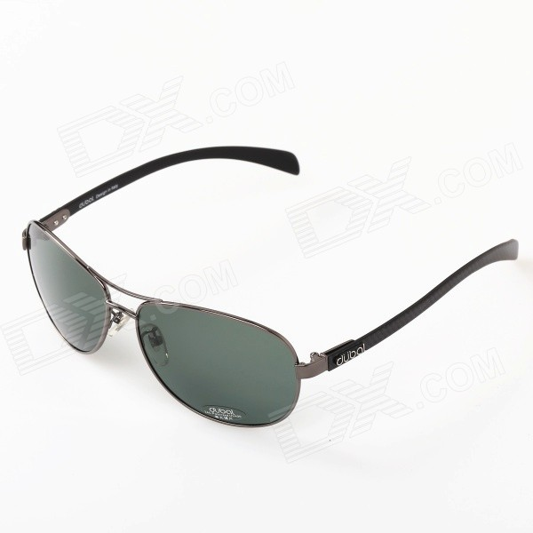 все цены на 501 Men's Driving Resin Lens High Nickel Alloy Frame Polarized Sunglasses - Grey + Dark Green онлайн