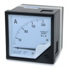 6L2 AC 0~200A Square Plastic Analog Panel Ampere Meter Ammeter - Black + White