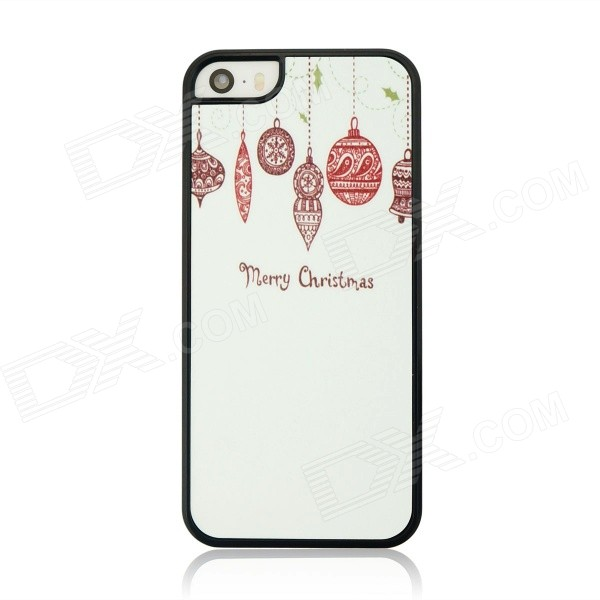 "Christmas Style Protective PC Back Case for IPHONE 6 4.7"" - White + Pink + Black"