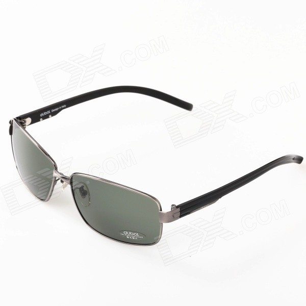 все цены на 504 Men's Driving Resin Lens High Nickel Alloy Frame Polarized Sunglasses - Grey + Dark Green онлайн