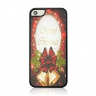 Christmas Bell Pattern Protective PC Back Case for IPHONE 5 / 5S - Dark Red + Golden