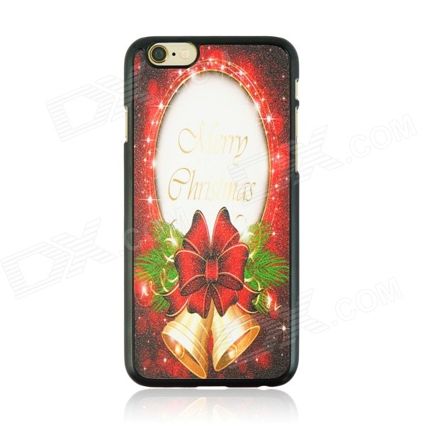 "Christmas Style Protective PC Back Case for IPHONE 6 4.7"" - White + Black + Multi-Color"