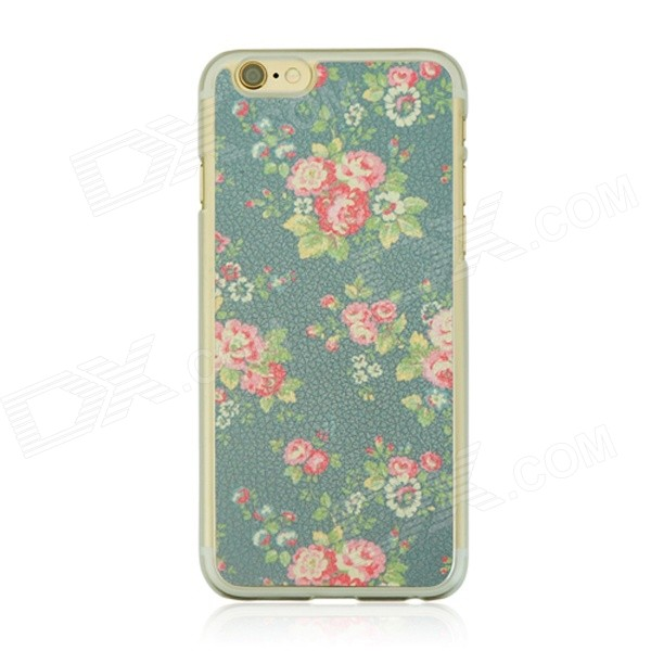 Pastoral Pattern Protective PC Back Case for IPHONE 6 4.7 - Earth Yellow + Grey + Multi-Color jbl synchros e40bt