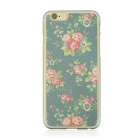 "Pastoral Pattern Protective PC Back Case for IPHONE 6 4.7"" - Earth Yellow + Grey + Multi-Color"