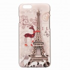 "Eiffel Tower + Reindeer Pattern Protective PC Back Case for IPHONE 6 4.7"" - Multicolored"