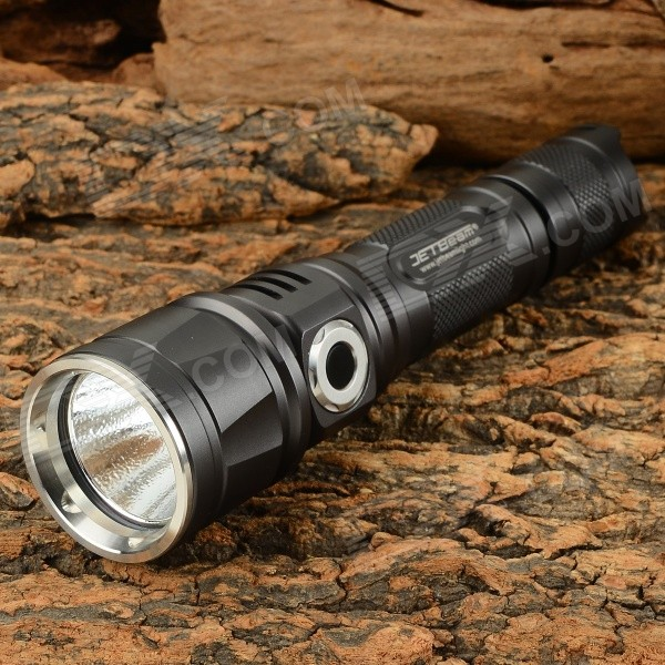JETBeam DDC25 600lm 3-Mode Cool White LED Tactical Flashlight - Black (1 x 18650) jetbeam rrt26 white rgb 980lm 5 mode tactical flashlight w cree xm l2 3 led black 1 x 18650