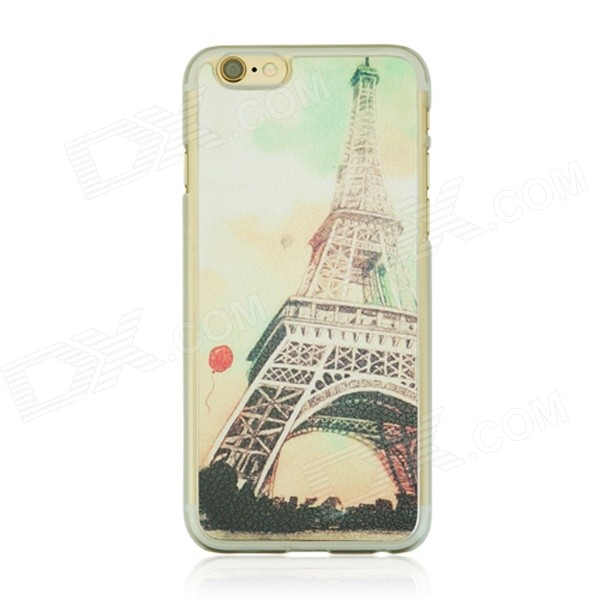 Eiffel Tower Pattern Protective PC Back Case for IPHONE 6 4.7 - White + Multicolored cat pattern protective pc back case for iphone 6 4 7 white pink multi color