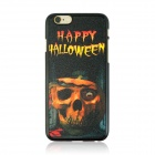 "Halloween Skull Pattern Protective PC Back Case for IPHONE 6 4.7"" - Black + Orange + Multi-Color"