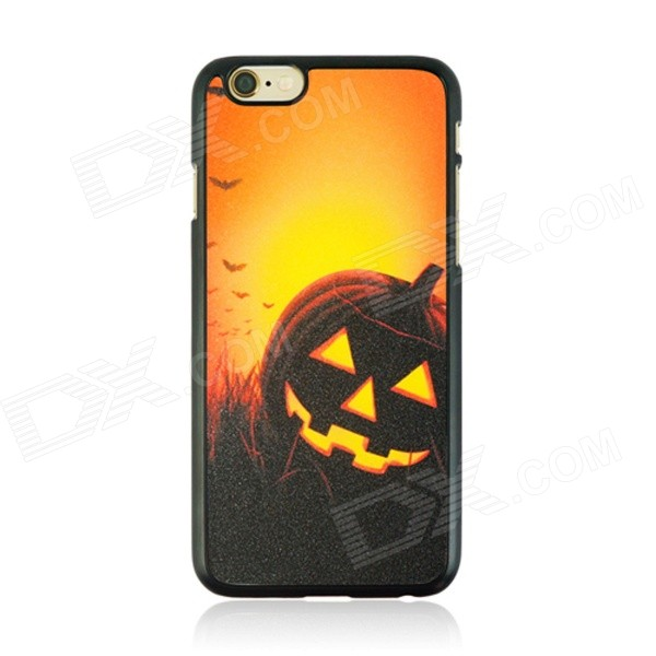 Halloween Style Protective PC Back Case for IPHONE 6 4.7 - Black + Orange + Multi-Color