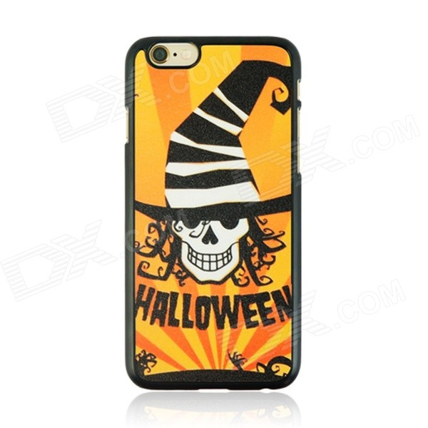 Halloween Devil Pattern Protective PC Back Case for IPHONE 6 4.7 - Black + Orange + Yellow halloween devil moon pattern protective pc back case for iphone 6 4 7 black multicolored