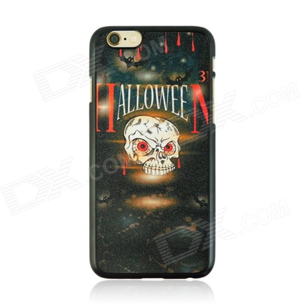 Halloween Monster Pattern Protective PC Back Case for IPHONE 6 4.7 - Black + Multicolored halloween devil moon pattern protective pc back case for iphone 6 4 7 black multicolored