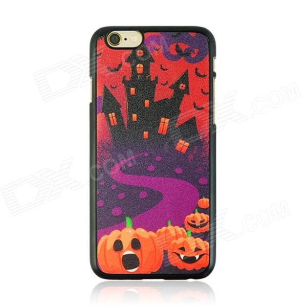 Halloween Castle Pattern Protective PC Back Case for IPHONE 6 4.7 - Black + Orange + Multi-Color halloween devil moon pattern protective pc back case for iphone 6 4 7 black multicolored