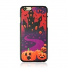 "Halloween Castle Pattern Protective PC Back Case for IPHONE 6 4.7"" - Black + Orange + Multi-Color"