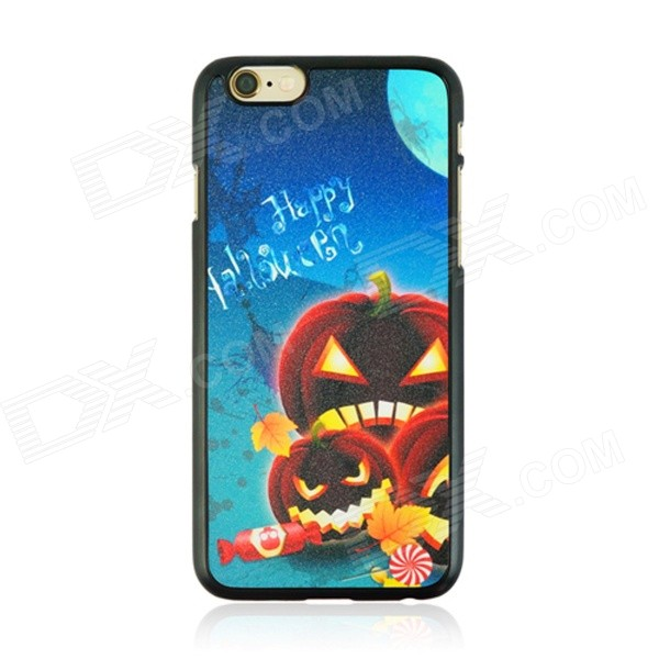 Halloween Pumpkin Lanterns Pattern Protective PC Back Case for IPHONE 6 4.7 - Multicolored halloween devil moon pattern protective pc back case for iphone 6 4 7 black multicolored