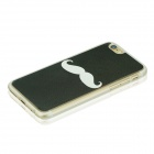 "Moustache Pattern Protective PC Back Case for IPHONE 6 4.7"" - Deep Green + White"