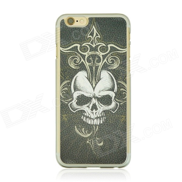 Skull Pattern Protective PC Back Case for IPHONE 6 4.7 - Multicolored halloween devil moon pattern protective pc back case for iphone 6 4 7 black multicolored