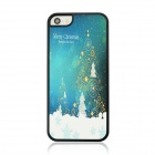 Christmas Style Protective PC Back Case for IPHONE 5 / 5S - White + Blue + Multi-Color