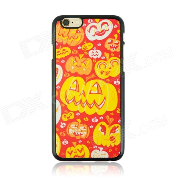 Cute Halloween Pumpkin Lanterns Pattern Protective PC Back Case for IPHONE 6 4.7 - Red + Orange watermelon pattern protective pc back case for iphone 6 4 7 red green multi color