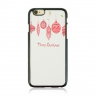 "Christmas Style Protective PC Back Case for IPHONE 6 4.7"" - White + Pink + Multi-Color"