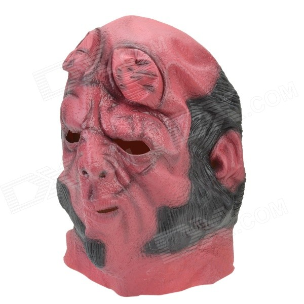 Halloween Party Cosplay Devil Rubber Mask - Red + Black