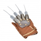 82003 Adjustable Bendable & Detachable Wolf Claw Glove - Brown + Silvery Black