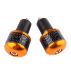 MZ Aluminum Alloy + Rubber Motorcycle Handlebar Cap / Handle Plug - Golden (Pair)