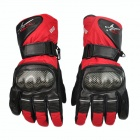 PRO-BIKER DXMS-08 Motorcycle Warm Waterproof Racing Gloves - Red (Pair / Size M)