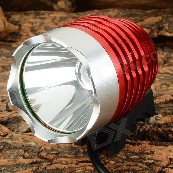 LetterFire 600lm 3-Mode White Light USB Bicycle Lamp - Red + Silver (4.2~12V)
