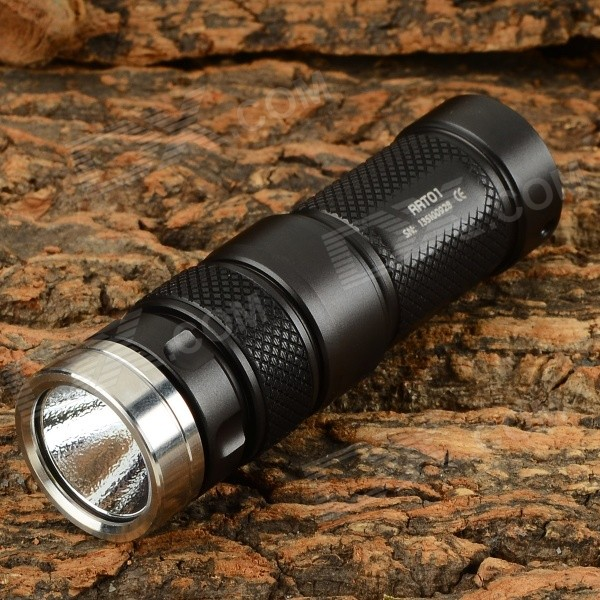JETBeam RRT01 600lm 1-Mode Cool White Dimming LED Flashlight - Black (1 x 16340 / 1 x CR123A)