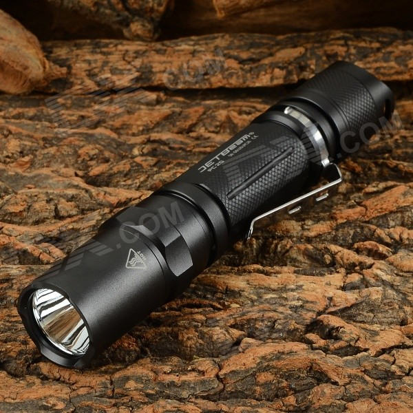 JETBeam PC20 410lm 4-Mode Cool White LED Tactical Flashlight - Black (2 x CR123A)
