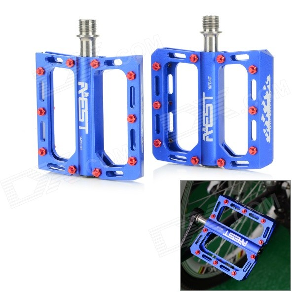 AEST YMPD-10T Lightweight Aluminum Magnesium Alloy Pedals for Road / Mountain Bikes - Blue (Pair) aest ympd 09t aluminum magnesium alloy bicycle pedal black pair