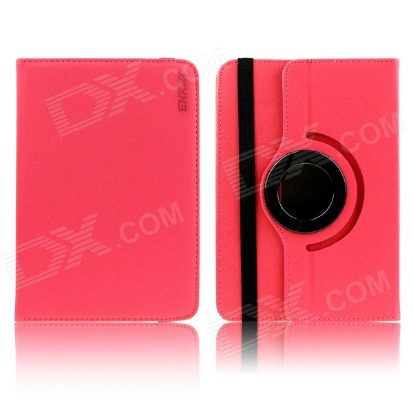 ENKAY 360 Degree Rotation Universal Protective Case for 9.0 / 10 Tablet PC - Red 8 inch 360 degree rotation pu leather case for 8 inch tablet pc black