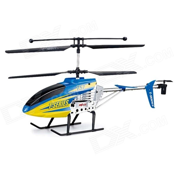 Meijiaxin T57Shock-resistant 3-CH 2.4GHz R/C Helicopter w/ Gyro - Blue + Yellow w808 9 2 4ghz 3 5 ch radio control r c helicopter w gyroscope yellow
