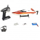 Feilun FT009 2.4GHz 4-CH vannkjøling High Speed ​​Racing RC Båt - Orange